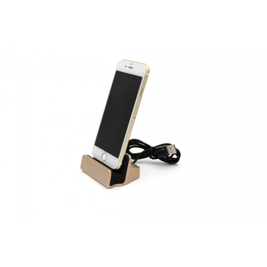 Dock incarcare si transfer pentru Apple iPhone, Lighting, Auriu