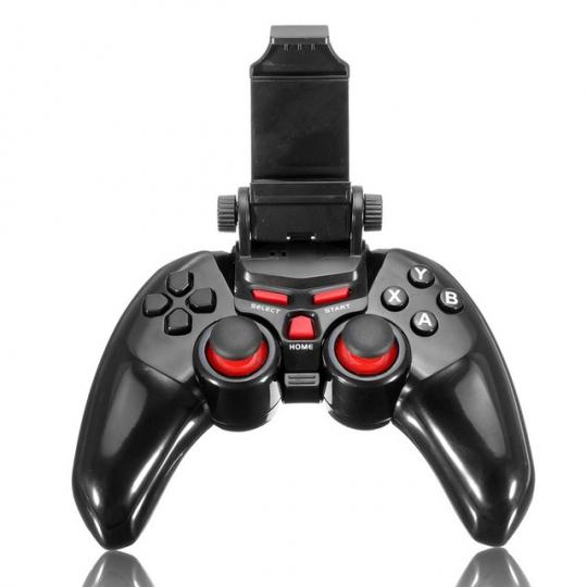 Controller DOBE T1-465 Wireless Android/PC bluetooth cu suport pentru telefon pana in 6 inch, negru