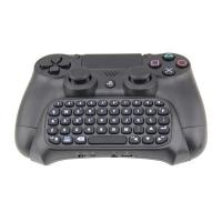 Tastatura chatpad Dobe wireless bluetooth compatibila cu controllerul pentru PlayStation PS4 / SLIM / PRO, negru