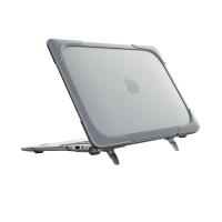 Carcasa din plastic pentru MacBook Air 13 inch A1466 / A1369 cu margini antisoc, gri