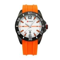 Ceas sport barbatesc Curren Quartz cu afisaj data 8178-1, portocaliu
