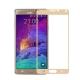 Folie protectie sticla securizata fullsize pentru Samsung Galaxy Note 4, auriu