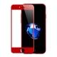Folie protectie sticla securizata 3D curbata pentru Iphone 7 Plus, rosu