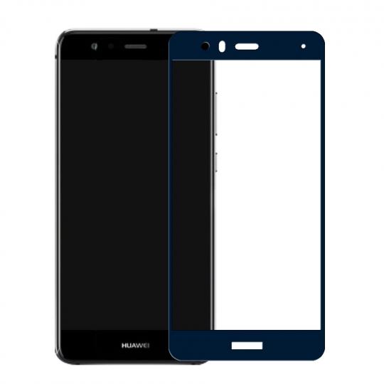 Folie protectie sticla securizata fullsize pentru Huawei P10 Lite, albastru