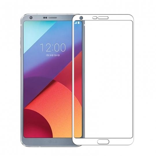 Folie protectie sticla securizata fullsize pentru LG G6, alb