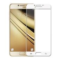 Folie protectie sticla securizata fullsize pentru Samsung Galaxy C7, alb