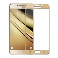 Folie protectie sticla securizata fullsize pentru Samsung Galaxy C7, auriu