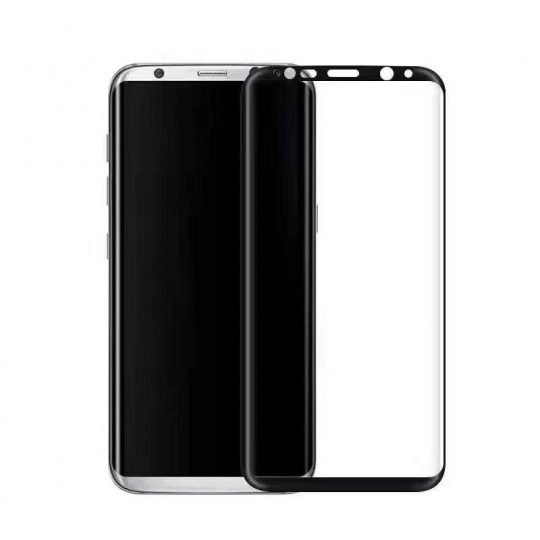 Folie sticla securizata 4D curbata pentru Samsung Galaxy S8 ,negru