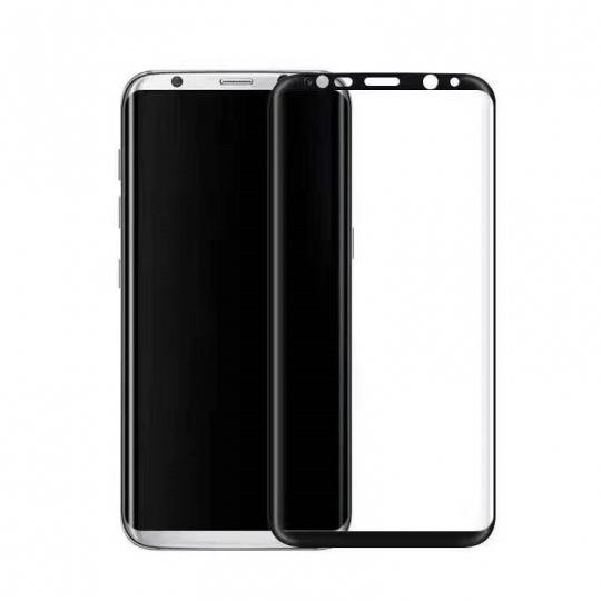 Folie sticla securizata 4D curbata pentru Samsung Galaxy S8 Plus ,negru