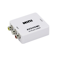 Adaptor mini convertor AV(RCA) la HDMI Full HD 1080p video si audio stereo, alb