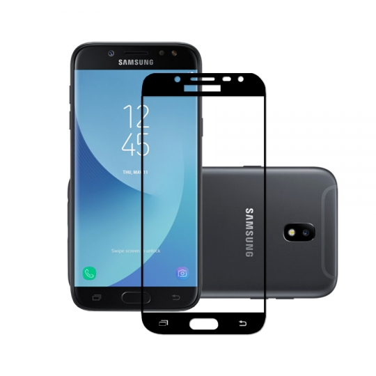 Folie sticla securizata fullsize pentru Samsung J7 2017 SM-J730F (versiune Europa), negru