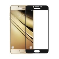 Folie protectie sticla securizata full size pentru Samsung Galaxy C5 Pro, negru
