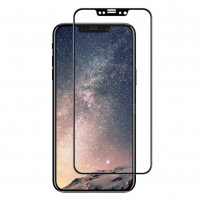 Folie protectie sticla securizata 3D curbata pentru iphone 10 / X / XS, negru