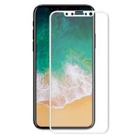 Folie protectie sticla securizata 3D curbata pentru iphone 10 / X / XS, alb