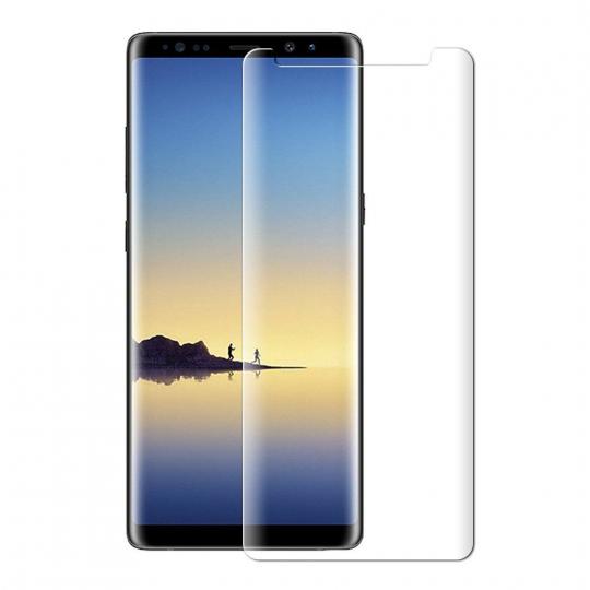 Folie protectie sticla securizata 3D curbata pentru Samsung Galaxy Note 8(pentru husa), transparent