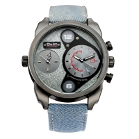 Ceas sport Oulm HP9316 Denim dual time zone, vernil