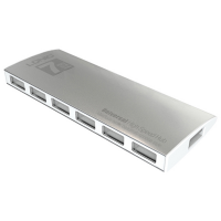 Hub LDNIO DL-H7 High Speed Super Slim cu 7 porturi USB 2.0 si cablu Micro USB, argintiu