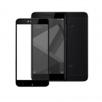 Folie protectie sticla securizata full size Xiaomi Redmi 4X, negru