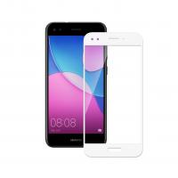 Folie protectie sticla securizata full size Huawei P9 Lite mini 2017, alb