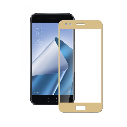 Folie protectie sticla securizata full size Asus Zenfone 4 ZE554KL, auriu