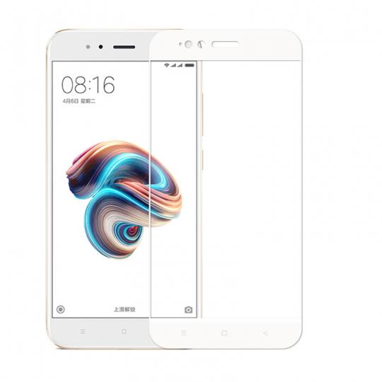 Folie protectie sticla securizata Himo full size pentru Xiaomi A1 si MI 5X, alb