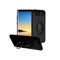 Husa cu stand metalic si inel pentru suport magnetic Samsung Galaxy Note 8, negru