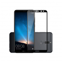 Folie protectie sticla securizata full size pentru Huawei Mate 10 Lite, negru