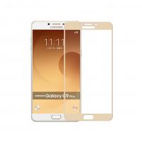 Folie protectie sticla securizata full size pentru Samsung GalaxY C9 Pro, auriu