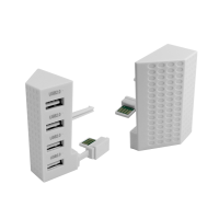 Hub USB Dobe TYX-795S cu 4 porturi 2.0 pentru Xbox One S, alb