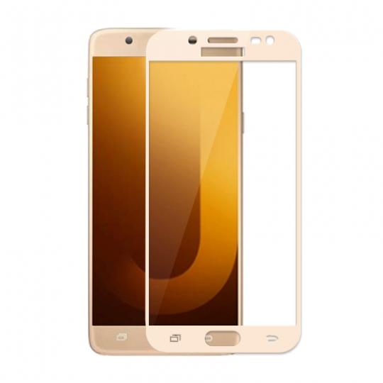 Folie protectie sticla securizata full size pentru Samsung Galaxy J7 MAX G615FD, auriu