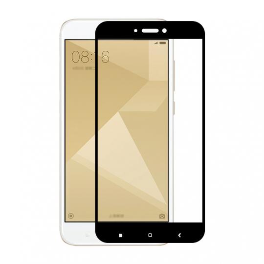 Folie protectie sticla securizata full size pentru Xiaomi Redmi 5A, negru