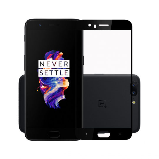 Folie protectie sticla securizata full size pentru OnePlus 5 / A5000, negru