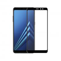 Folie protectie sticla securizata 3D curbata pentru Samsung Galaxy A8 2018, negru