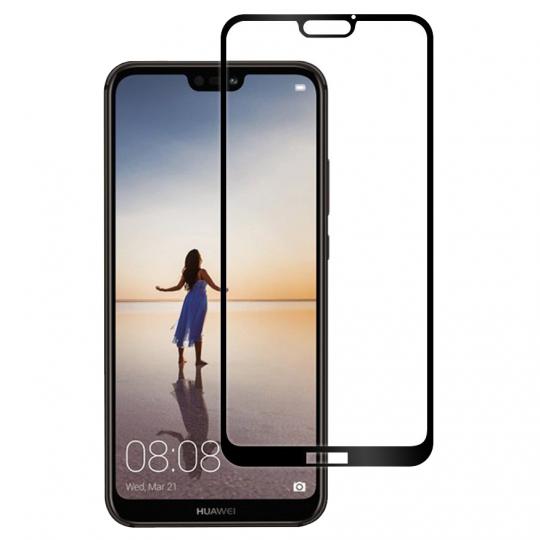 Folie protectie sticla securizata full size pentru Huawei P11 / P20 Lite, negru
