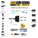 Splitter HDMI 4K cu 1 intrare si 2 iesiri ce suporta UHD 4Kx2K@60Hz 3840 x 2160p si 3D, negru