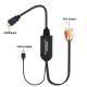 Cablu convertor 2m HDMI tata la AV / RCA ce suporta intrare 4K si iesire 1080P, negru