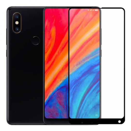 Folie protectie sticla securizata full size pentru Xiaomi Mi Mix 2S, negru