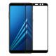 Folie protectie sticla securizata full size pentru Samsung Galaxy A8 Plus, negru