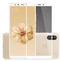 Folie protectie sticla securizata full size pentru Xiaomi Mi 6X / A2, alb