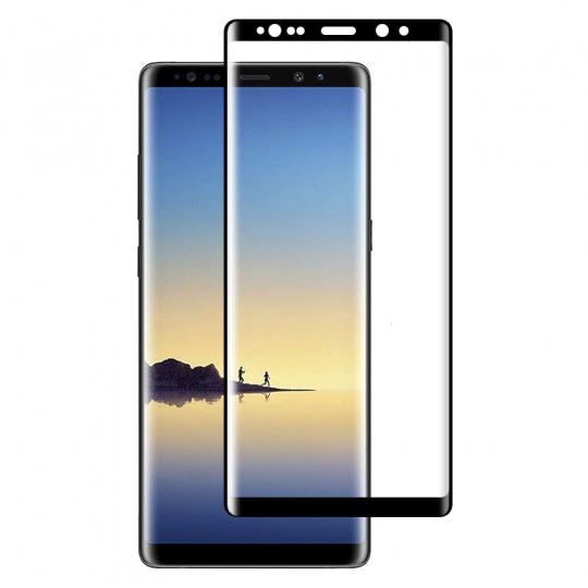 Folie protectie sticla securizata 3D curbata pentru Samsung Galaxy Note 9, negru