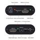 Adaptor Convertor ARC HDMI la HDMI 4K Audio Splitter cu Optical Toslink SPDIF si 3.5mm Audio Stereo, negru