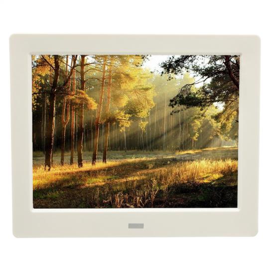 Rama foto digitala MW-087DPF LCD de 8 inch cu telecomanda, alb