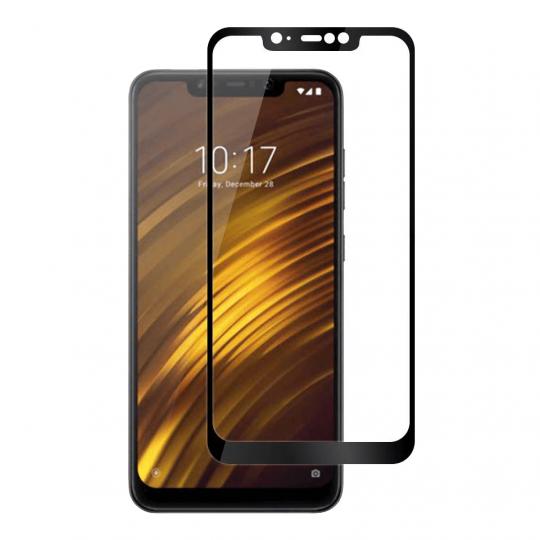 Folie protectie sticla securizata full size pentru Xiaomi Pocophone F1, negru