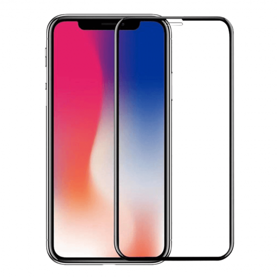 Folie protectie sticla securizata 6D curbata pentru iPhone XR, negru