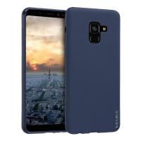 Husa KRASSUS pentru Samsung Galaxy A8 Plus 2018 din silicon mat, dark blue