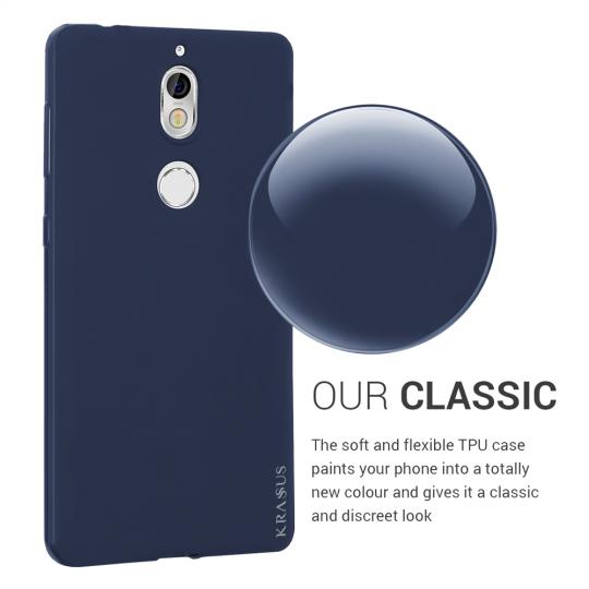 Husa KRASSUS pentru Nokia 7 din silicon mat, dark blue