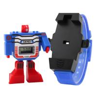 Ceas Skmei 1095 pentru copii transformers cartoon detasabil cu data si calendar complet, albastru