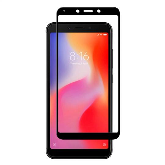 Folie protectie pentru Xiaomi Redmi 6 / 6A din sticla securizata full size, negru