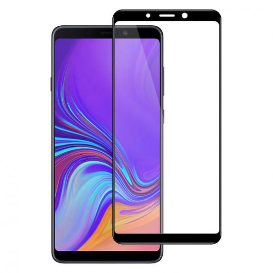Folie protectie pentru Samsung Galaxy A9 2018 din sticla securizata full size, negru
