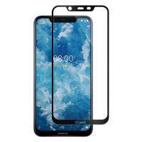 Folie protectie pentru Nokia 8.1 / X7 din sticla securizata full size, negru